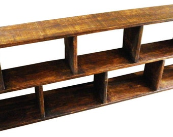 Chunky Wooden 2 Tier Asim Shelving Storage Unit With Or Without Drawer