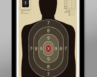 Official Gun Range Target Practice Poster - Print 323 - Home Decor