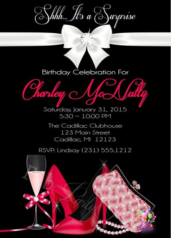 Surprise Birthday Invitation Adult Birthday Invitation No Age - Surprise birthday invitation for adults