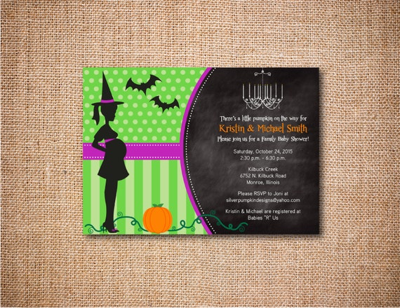 halloween baby shower invitations custom personalized invites