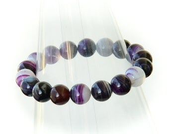 Cool Beaded Gemstone Stretch Bracelet