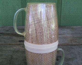 2 Raffiaware Coffee Mugs / Cups