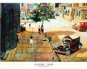 Elkins, 1939 Print Oil Painting by Michael Doig