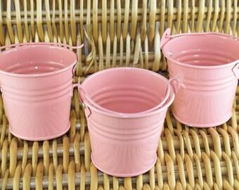 Tin Favour Pail - 2inch - Pink. JR07516