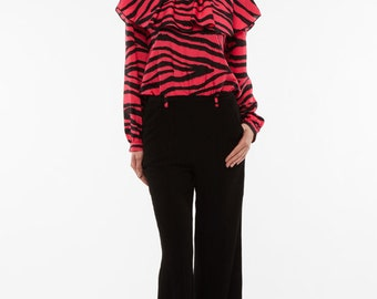 Liquorish Zebra Long Sleeved Jumpsuit