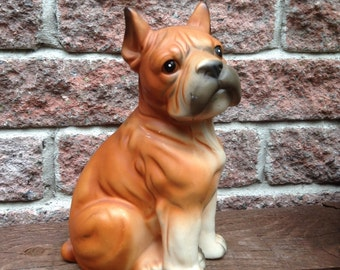 Dog Figurine, Boxer, Boxer Dog, Boxer Figurine, Dog Statue, Animal Lover