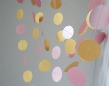 Wedding Garland, Light pink, light gold garland