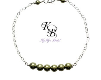Pearl Bridesmaid Bracelet, 40 Colors, Bridesmaid Jewelry, Prom Jewelry, Wedding Jewelry, Bridal Party Jewelry, Bridesmaid Bracelet