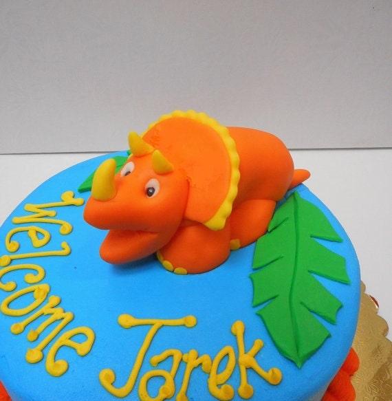 Dinosaur Fondant Cake Topper 1st Birthday Baby by ...