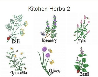 Herb Embroidery Etsy