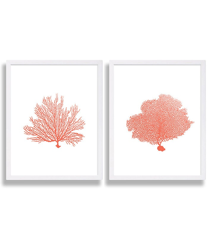 Coral Wall Art Coral Kariya Floral Wall Panels With Wall
