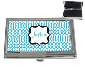 Business Card Holder Personalized Business Card Holder Monogrammed Business Card Case Personalized Gifts with Name or Monogram