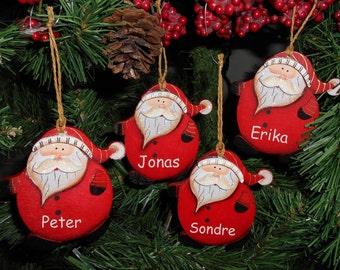 Personalised Funky Fat Santa Christmas Tree Decorations Ornaments