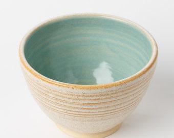 Bowl - ceramic bowl - pottery bowl - cereal bowl - ice cream bowl - soup bowl - handmade - wheel thrown - blue - light blue - turquoise blue
