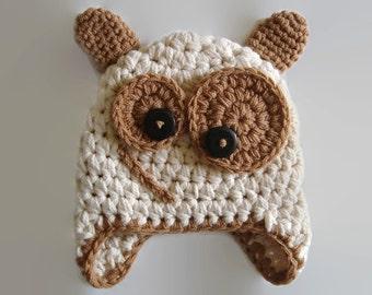 Newborn monster hat Crochet monster hat Halloween baby hat Earflap baby hat Baby monster outfit Newborn boy hat Crochet newborn hat Baby hat