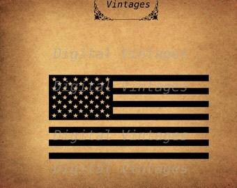 American Flag USA  Logo Illustration Vintage Antique Digital Image Download Printable Clip Art Prints HQ 300dpi svg jpg png