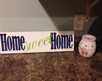 Home Sweet Home handpainted wood sign