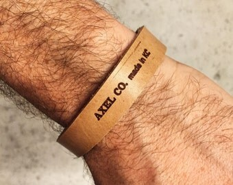 Axel Co Leather Cuff | Made in KC MO USA | Brand