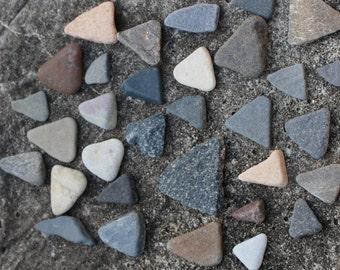 Triangle Stones Beach Stones Sea Stones