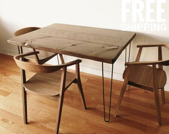 Hairpin Legs Table | Wood Dining Table, Kitchen Table | Reclaimed Wood Table  | Modern