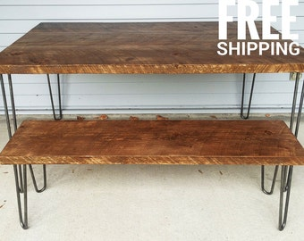 Hairpin | Dining Table, Kitchen Table | Reclaimed Wood Table | Modern Dining Table | Free shipping