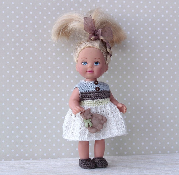 Crochet Mini Doll Clothes : Crochet Doll Dress, Doll Clothes, Handmade Doll Dress for ...