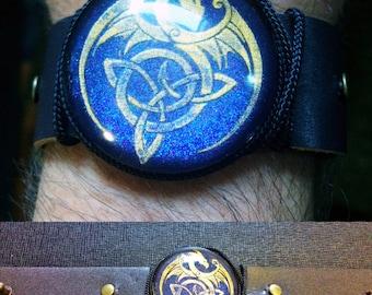 Custom Mythical Celtic Dragon Bracelet