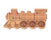 Wooden Cribbage Game, Train Engine Design