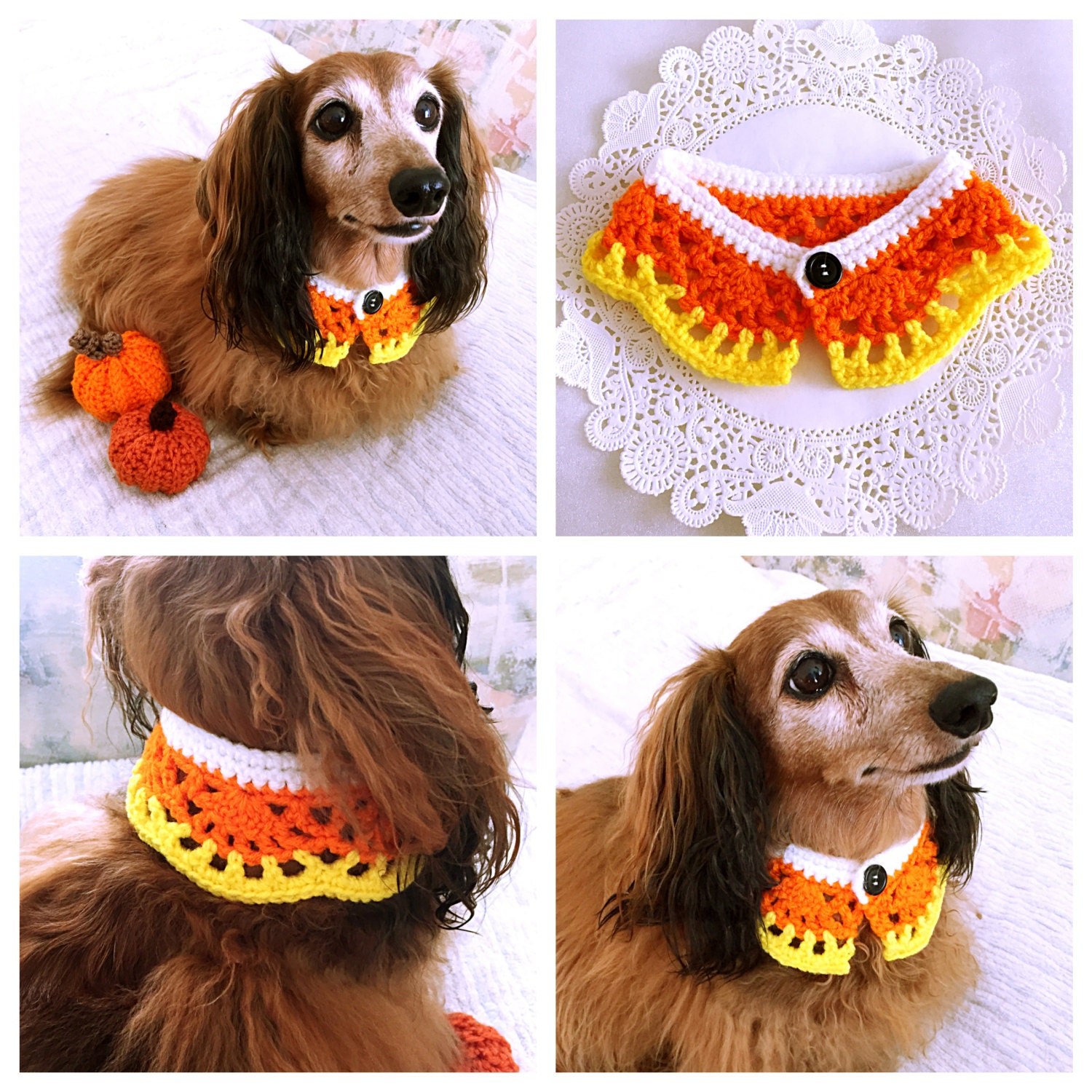 Dog Scarf Dog Collar Halloween Candy Corn Dog Bandana