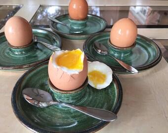 Egg Cup Soft Boiled Egg Server - Amazon Green