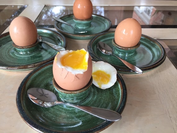 Egg Cup Soft Boiled Egg Server Amazon Green