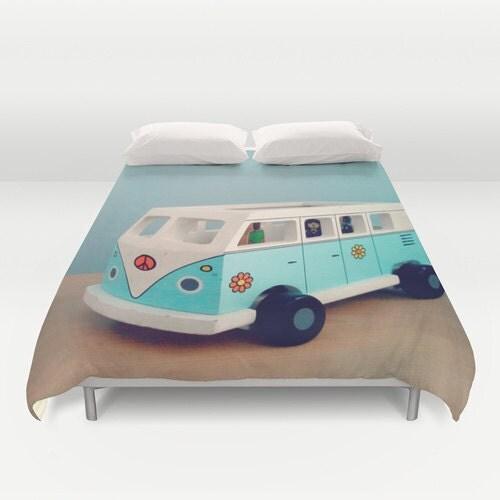 jouet hippie van consolateur ou housse de couette. Black Bedroom Furniture Sets. Home Design Ideas
