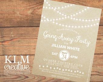 Twinkling Lights Postcard Invitation