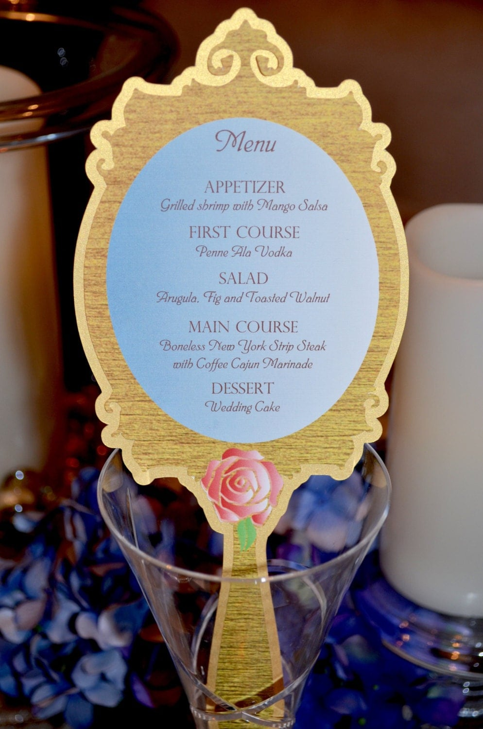 Fairy Tale Wedding Collection - Beauty and the Beast Enchanted Mirror Menu