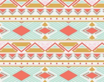 Tribal Study Aura - Anna Elise by Bari J. for Art Gallery Fabrics - FAT QUARTER - ANE87502 - 100% Cotton - Quilting Fabric - Print