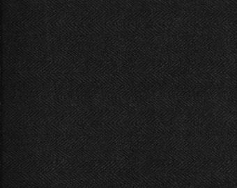 45'' Maywood Studios Dark Gray Herringbone Woolies Flannel MASF 1841-K4 by the Yard