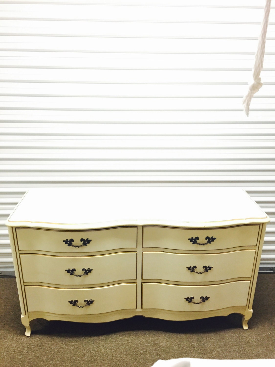 #8C763F Vintage Off White Enamel French Provincial 6 Drawer Long Dresser  with 1125x1500 px of Most Effective Off White Dressers 15001125 wallpaper @ avoidforclosure.info