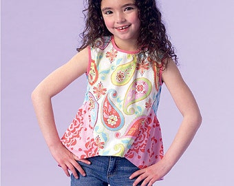 OUT of PRINT McCall's Pattern 7181 Girls' Tops