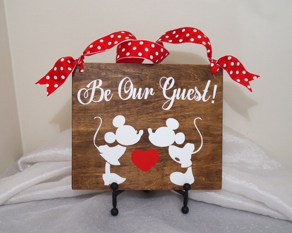 Be Our Guest Mickey and Minnie Wedding Sign Mickey and Minnie