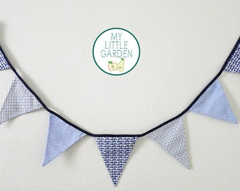 Garland of blue car pennants
