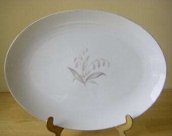 "Kaysons Fine China 'Golden Rhapsody' Oval Serving Platter, 12-1/4"" x 9-1/4"""