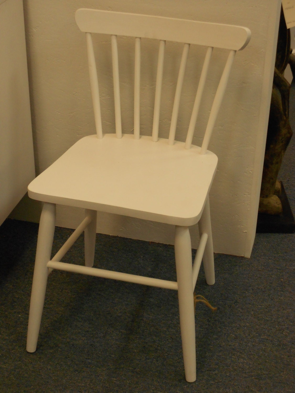Painted Wood Chair Petite Vintage  White – Haute Juice. Full resolution  portrait, nominally Width 1125 Height 1500 pixels, portrait with #937238.