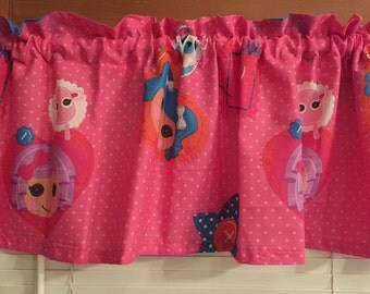 "LaLaLoopsy Window Valance ~ 64"" wide"