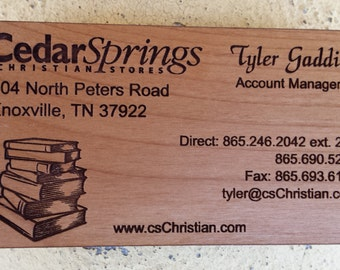 Business card alder wood.  Price per card