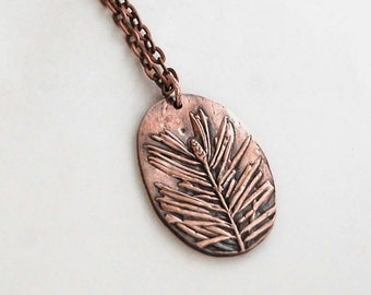 Pine sprig pendant *nature-inspired jewelry*