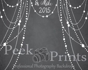 8ftx8ft  Elegant Wedding Photo Prop Chalkboard Backdrop- Wedding Backdrop - Event Backdrop - Wedding Background