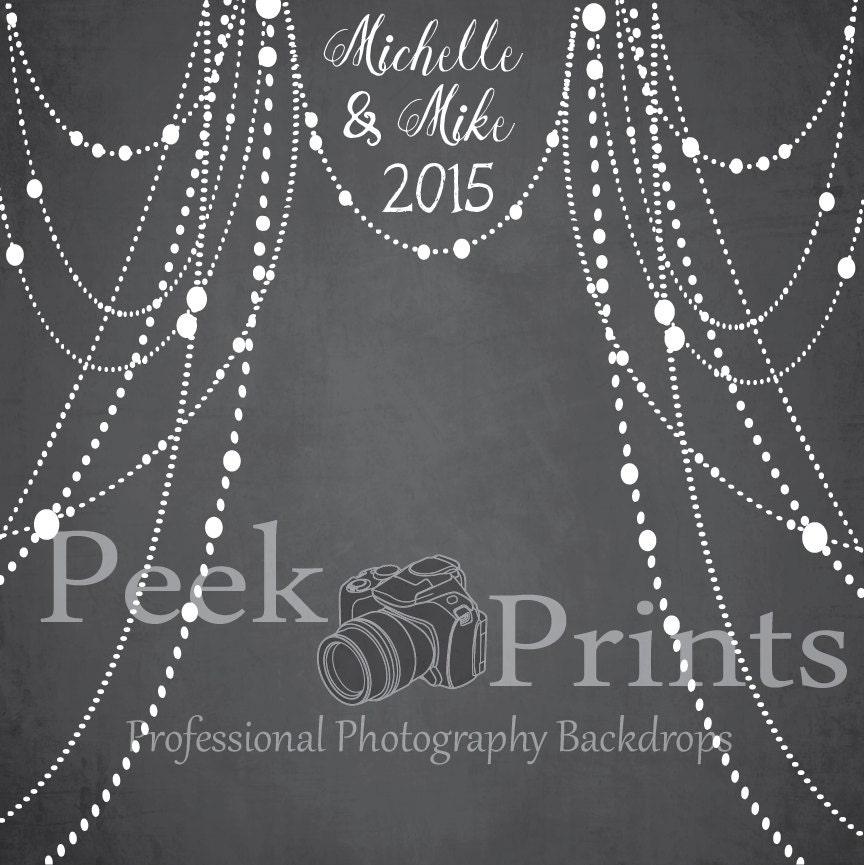 8ftx8ft Elegant Wedding Photo Prop Chalkboard Backdrop