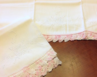 Crocheted pillowcases