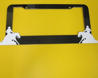 Sliding Horse license plate frame personalized your text