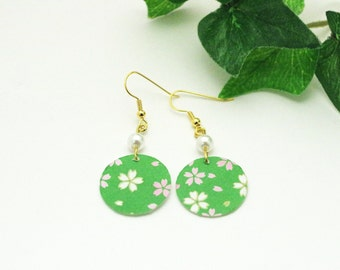 Floral and Pearl Earrings